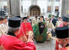 Александријски патријарх у Саборној цркви